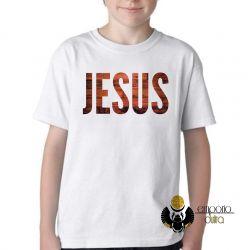Camiseta Infantil Jesus madeira