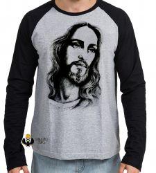 Camiseta Manga Longa Jesus Cristo Salvador