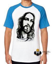 Camiseta Raglan Jesus Cristo Salvador