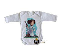 Roupa Bebê manga longa   Star Wars Mini Princesa Leia