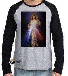 Camiseta Manga Longa Jesus Cristo Sagrado coração