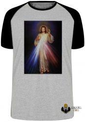Camiseta Raglan Jesus Cristo sagrado coração