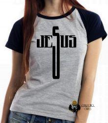 Blusa Feminina Jesus Cristo cruz