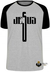 Camiseta Raglan Jesus Cristo  cruz