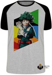 Camiseta Raglan Manga Deku midoriya