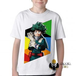 Camiseta Infantil  Manga Deku midoriya