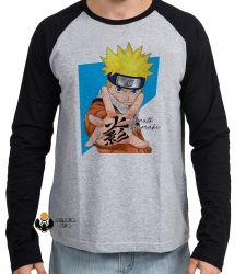 Camiseta Manga Longa Manga Naruto Uzumaki
