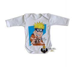 Roupa Bebê manga longa Manga Naruto Uzumaki