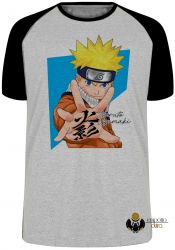 Camiseta Raglan Manga Naruto Uzumaki