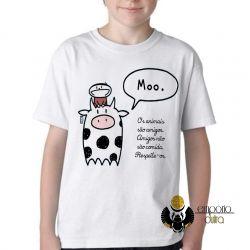 Camiseta Infantil Animais Respeite-os
