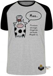 Camiseta Raglan  Animais Respeite-os
