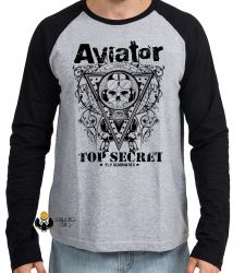 Camiseta Manga Longa Aviator Top Secret