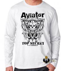 Camiseta Manga Longa Aviator Top Secret