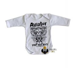 Roupa Bebê manga longa Aviator Top Secret