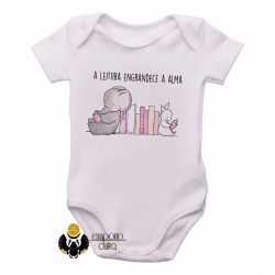 Roupa  Bebê Leitura engrandece a alma