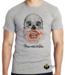 Camiseta Pense antes de falar