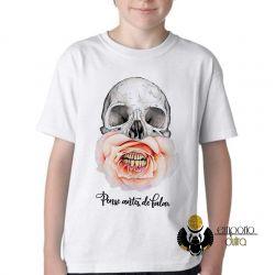 Camiseta Infantil Pense antes de falar
