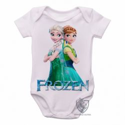 Roupa  Bebê Frozen Anna Elsa de costas