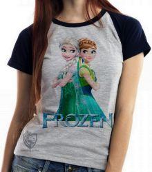 Blusa  feminina Frozen Anna Elsa de costas