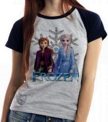 Blusa  feminina Frozen II Anna Elsa