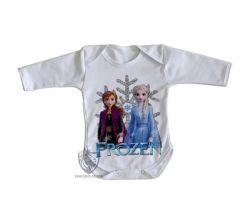 Roupa Bebê manga longa Frozen II Anna Elsa