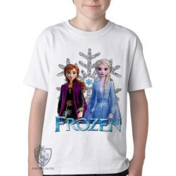 Camiseta Infantil Frozen II Anna Elsa