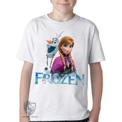 Camiseta Infantil Frozen Anna Olaf