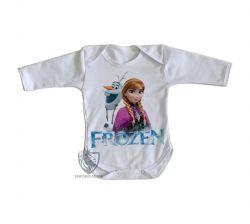 Roupa Bebê manga longa Frozen Anna Olaf