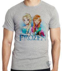 Camiseta Frozen Anna Elsa desenho