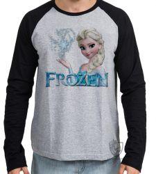 Camiseta Manga Longa Frozen Elsa