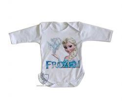 Roupa Bebê manga longa Frozen Elsa