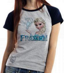 Blusa  feminina Frozen Elsa