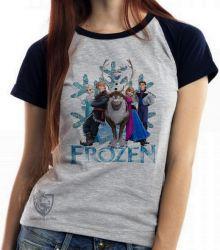 Blusa  feminina Frozen floco de neve todos