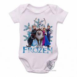 Roupa  Bebê Frozen floco de neve todos