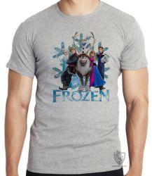 Camiseta Infantil Frozen floco de neve todos