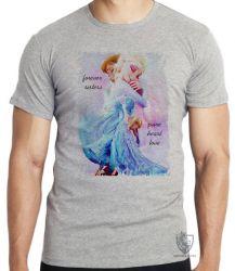 Camiseta Infantil Frozen Forever Sisters