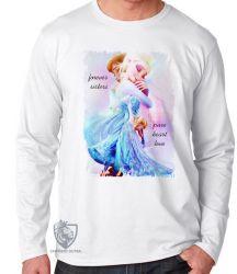Camiseta Manga Longa Frozen Forever Sisters