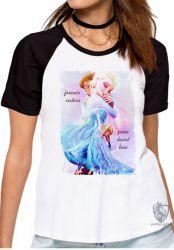 Blusa  feminina Frozen Forever Sisters