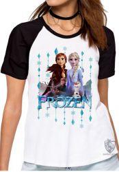 Blusa  feminina Frozen II Elsa Anna Olaf