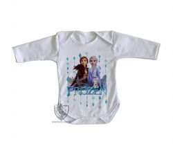 Roupa Bebê manga longa Frozen II Elsa Anna Olaf