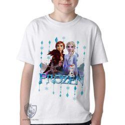 Camiseta Infantil Frozen II Elsa Anna Olaf
