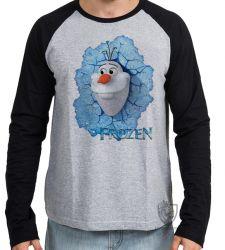 Camiseta Manga Longa Frozen Olaf
