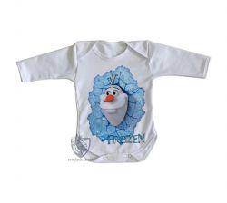Roupa Bebê manga longa Frozen Olaf