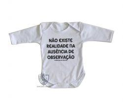 Roupa Bebê manga longa Interpretação de Copenhaga