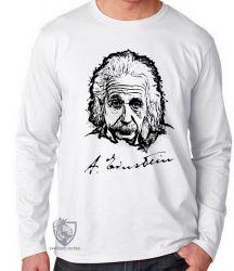 Camiseta Manga Longa Albert Einstein rosto