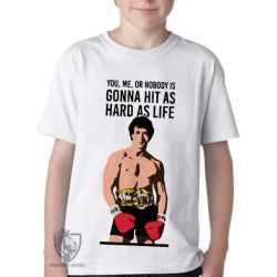 Camiseta Infantil  Rocky Balboa Gonna Hit