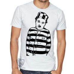 Camiseta Charles Chaplin preso