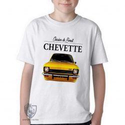 Camiseta Infantil Chevette amarelo