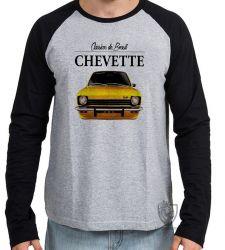 Camiseta Manga Longa Chevette amarelo