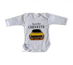 Roupa Bebê manga longa Chevette amarelo